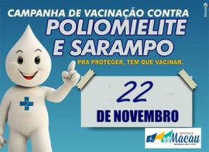 Macau: Sábado é Dia D de vacinação contra paralisia infantil e sarampo