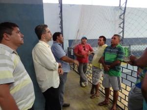 Prefeito e Secretário de Infraestrutura visitam obras em órgãos públicos municipais