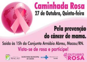 Outubro Rosa: Caminhada vai alertar para o câncer de mama